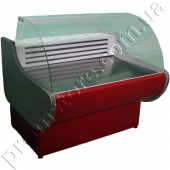 Витрина холодильная с гнутым стеклом 1300 мм