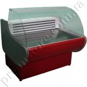 Витрина холодильная с гнутым стеклом 1600 мм