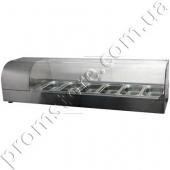 Витрина холодильная с гнутым стеклом на 5 гастроемкостей